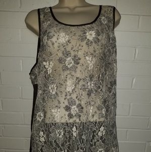 Forever 21 lace transparent tank size 3x